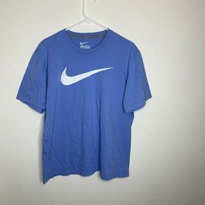 Nike Mens XL Light Blue and White Swoosh Logo
